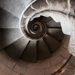 Stairs of La Sagrada Familia - Barcelona, Spain